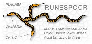 ''Runespoor'' — A species of mystical three-headed serpent, as cited in ''Fantastic Beasts and Where to Find Them'' by Newt Scamander (a.k.a. J. K. Rowling)