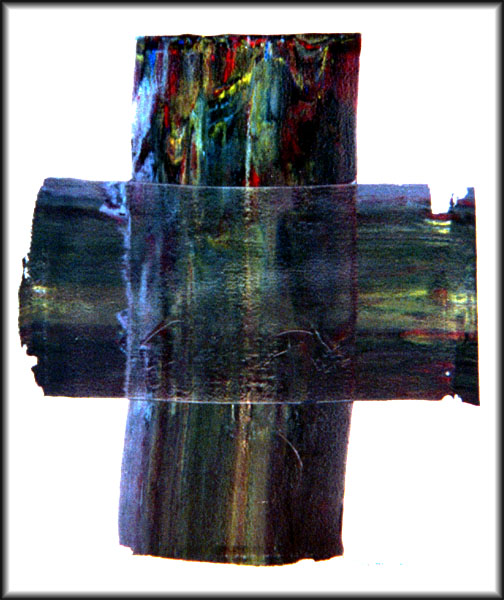 ''The Cross'' painting, larger with boosted brightness and contrast to help highlight image detail